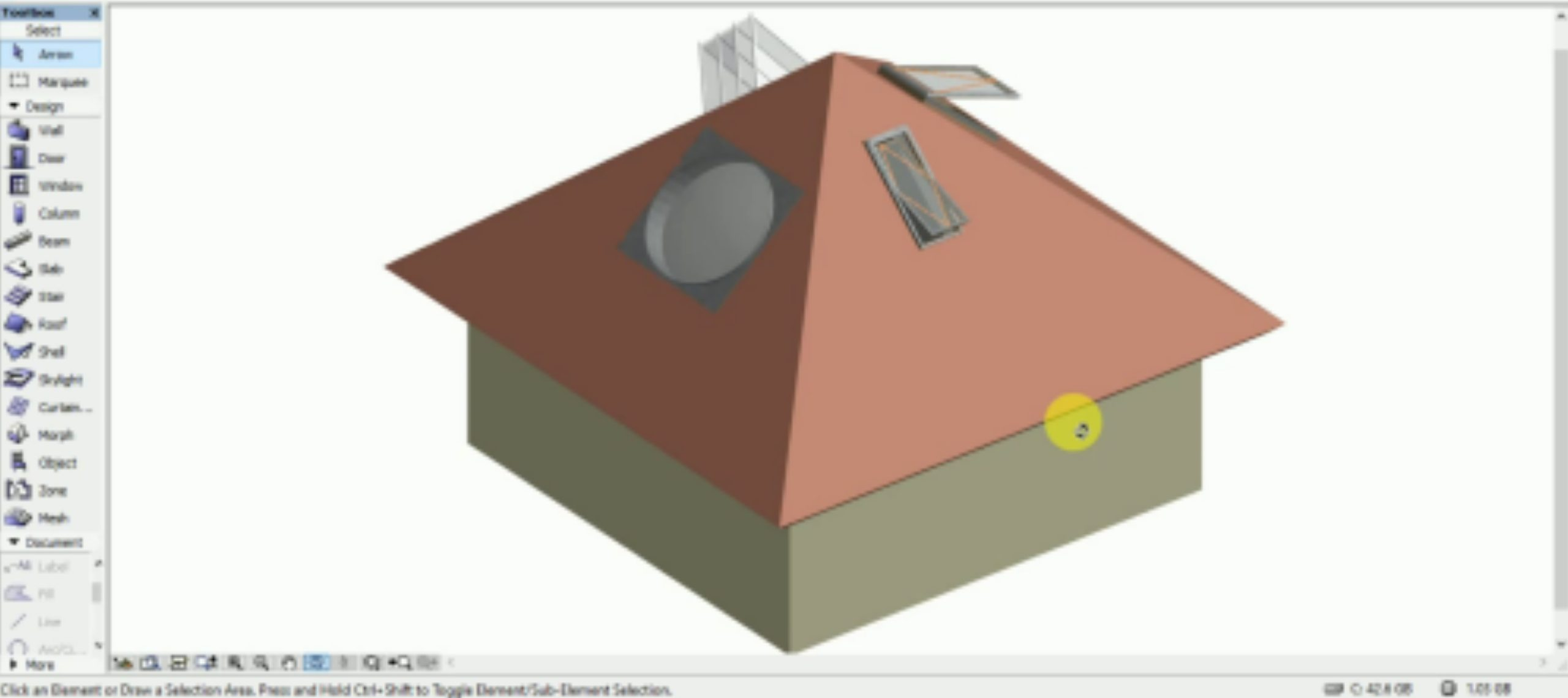 Put Multiple Skylights On-wall in Archicad